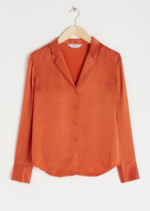 And other stories Button Up Satin Blouse