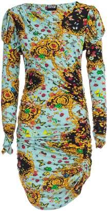 Versace Dress L/s W/drape Fantasy