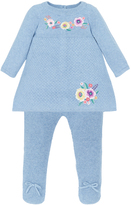 Monsoon Newborn Freya Knitted Dress & Tights