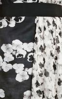Giambattista Valli Printed Silk-Gazar and Chiffon Mini Dress