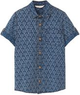 MANGO Boys Palm Print Shirt