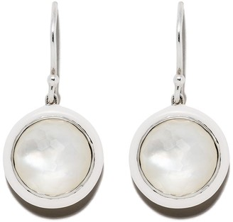 Ippolita Sterling silver and white ceramic Lollipop Carnevale single drop earrings