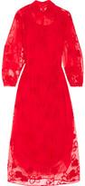 Simone Rocha Embroidered Tulle Midi Dress - UK6