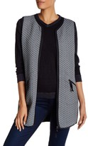 Max Studio Quilted Sleeveless Print Knit Vest