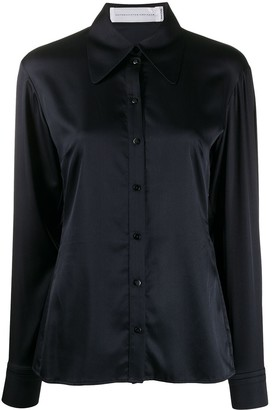 Victoria Victoria Beckham Long Sleeve Pointed Collar Shirt