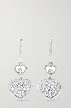 Chopard Happy Hearts 18-karat White Gold Diamond Earrings - one size