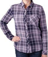 Seven7 Women's Button Down Plaid Shirt
