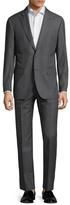Zanetti Napolik Wool Sharkskin Notch Lapel Suit
