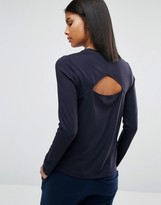 Whistles Open Back Long Sleeve Top