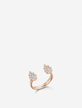 The Alkemistry x Carbon and Hyde Stella Pear 14ct rose-gold and diamond open ring