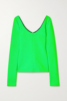 Kwaidan Editions Neon Stretch-knit Top - Green