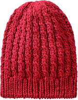 Joe Fresh Women's Shimmer Cable Knit Hat, Red (Size O/S)