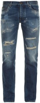 Dolce & Gabbana Distressed slim-leg denim jeans