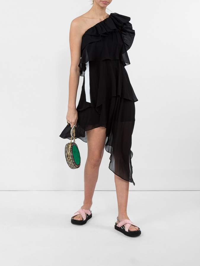 Givenchy Black one shoulder dress