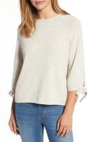 Velvet by Graham & Spencer Women's Cashmere Tie Sleeve Sweater