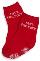 Silly Souls Fart Factory in Socks in 1-2 years in Red