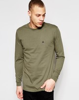 Asos Longline Long Sleeve T-shirt With Logo