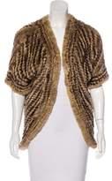 Adrienne Landau Fur Longline Jacket