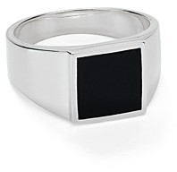 Argentovivo Square Onyx Signet Ring in Sterling Silver