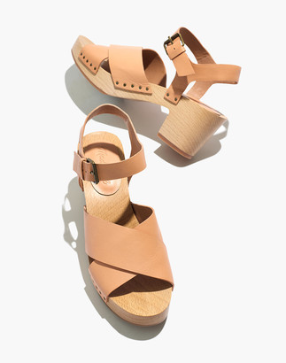 Madewell The Johanna Crisscross Clog Sandal in Leather