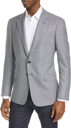 Giorgio Armani Trim Fit Melange Wool Sport Coat