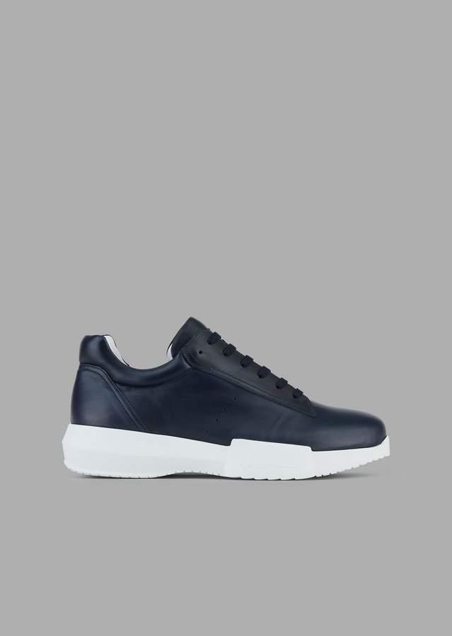 Giorgio Armani Nappa Leather Sneakers