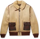RRL - Willard Leather-Trimmed Shearling Jacket