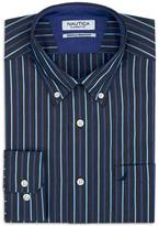 Nautica Classic Fit Wrinkle Resistant Striped Shirt