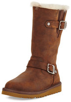 UGG Kensington Leather Buckle-Trim Boot, Toast, Youth