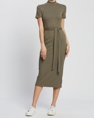 Spurr Hannah Rib Midi Knit Dress
