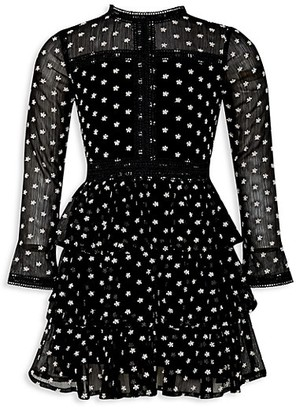 Bardot Junior Girl's Mini Polka Dot Trim Dress
