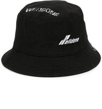 we11done Logo Printed Bucket Hat