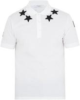Givenchy Cuban-fit star-appliqué cotton polo shirt