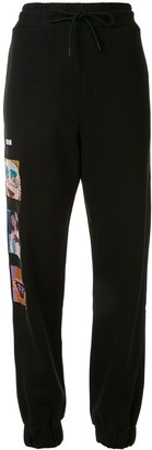 MSGM Beach-Embroidered Track Pants