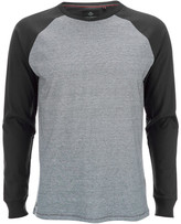 Threadbare Men's Coleman Raglan Long Sleeve Top - Black