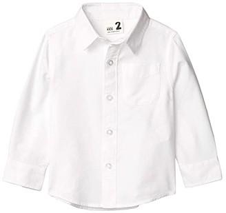 Cotton On Prep Long Sleeve Shirt (Toddler/Little Kids/Big Kids) (White Oxford) Boy's Clothing