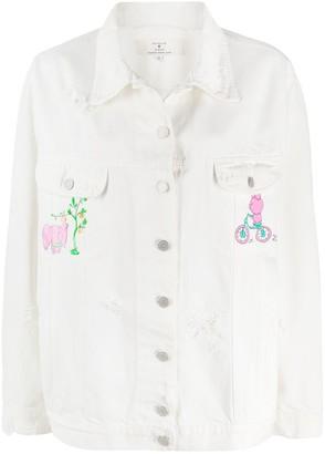 Natasha Zinko Graphic Print Denim Jacket