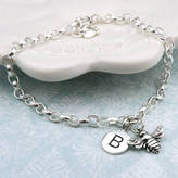 Bumble Bee Wished For Personalised Bracelet In Sterling Silver