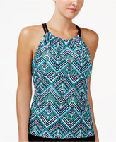 GO By Gossip Solar Printed High-Neck Racerback Tankini Top
