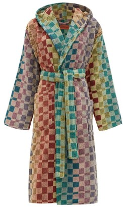 Missoni Home Yassine Hooded Checked Cotton-terry Robe - Multi