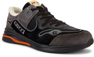 Gucci G Line Low Top Sneaker in Black & Silver | FWRD