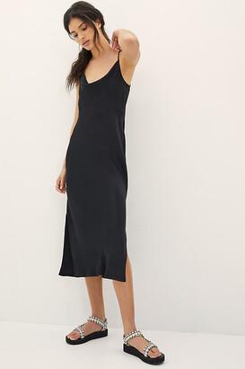 Anthropologie Bias Slip Dress By in Green Size L
