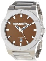 Rockwell Time Unisex CM115 Commander Stainless Steel Band Brown Dial Watch