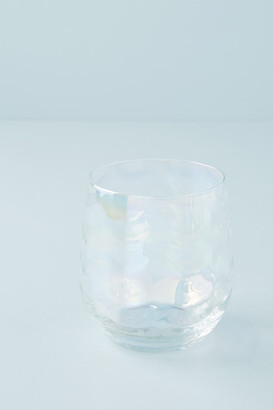 Iridescent Stemless Wine Glasses, Set of 4 By Gather by Anthropologie in White Size WINE GLASS