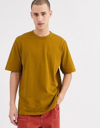 ASOS loose fit heavyweight t-shirt in rich brown