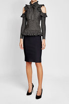 Elie Saab Metallic Pullover with Cold Shoulders