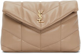 Thumbnail for your product : Saint Laurent Beige Quilted Small Puffer Pouch