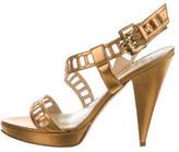 Oscar de la Renta Metallic Platform Sandals
