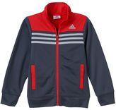 adidas Boys 4-7x Striped Mockneck Full-Zip Jacket