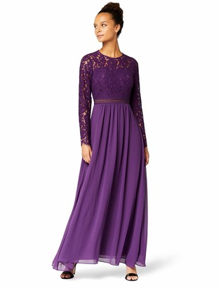 Amazon Brand - TRUTH & FABLE Women's Maxi Lace A-Line Dress
